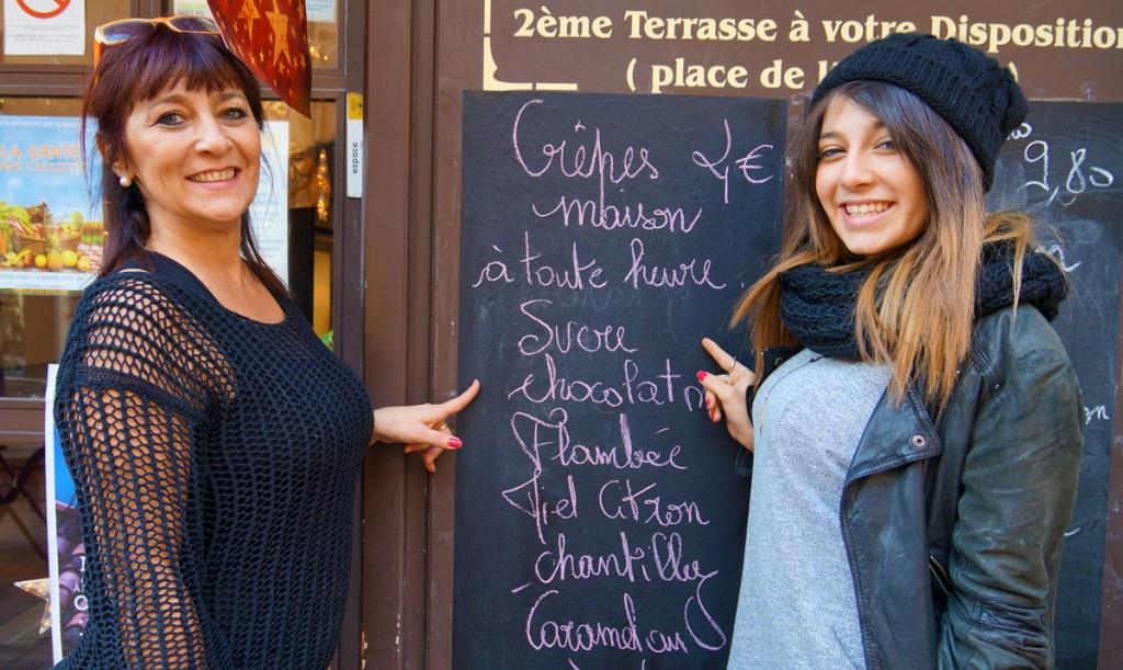 Christine et Alizé vous présentent le choix des crêpes maison du Borsalino